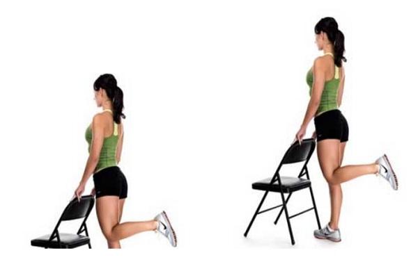Vježbe za stražnjicu sa stolcem