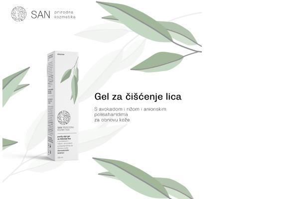 SAN CLEANSE Purify uljni gel za čišćenje lica s avokadom i rižom i anionskim polisaharidima